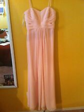David's Bridal Pink Rose Polyester Prom/Bridesmaid/Formal Floor Length Dress