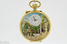 CHARLES REUGE The Fountain Scene Hunter Pocket Automaton Watch with Music (1996)