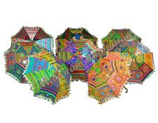 100 Pcs Wholesale lot Indian Umbrellas Boho Vintage Parasol Embroidered Colorful