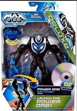 "New Mattel POWER ORB MAX STEEL 6"" FIGURE + DVD Figurine Game Kid Adult Collect"