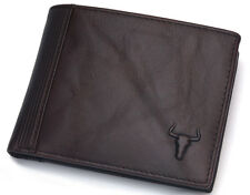 Wallets For Men Vintage Leather Wallet Coin Zipper Pocket Credit Card Purse