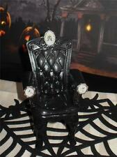 Gothic Halloween Skull Crossbone Chair For 8 to 11 1/2 Inch Fashion Dolls