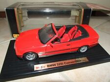 BMW 325 i CONVERTIBLE Rouge MAISTO 1/18