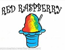 RED RASPBERRY SYRUP MIX Snow CONE/SHAVED ICE Flavor GALLON CONCENTRATE #1 FLAVOR
