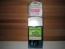 Rayovac PS3 UNIVERSAL Charger for NiMH, NiCD & RECHARGEABLE ALKALINE Batteries