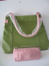 Estee Lauder Large Green Tote Bag with Pink Cosmetics Bag included
