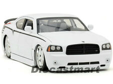 JADA LOPRO 1:18 2006 DODGE CHARGER SRT8 NEW DIECAST MODEL CAR WHITE NEW FOR 2012