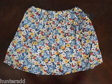 NWT Ralph Lauren Girls Blue Floral Batiste Cotton Pull On Skirt Sz XL 16 NEW $45