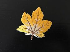 Sew on & iron on  patches(colorful leaf- yellow)