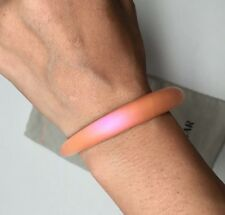 NEW Alexis Bittar Lucite Skinny Tapered Bangle Iridescent Coral Orange $70