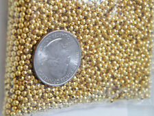 5000 Pieces GOLD BEADS Plated Mini Loose Spacers DIY Jewelery 2.5mm Lot 5000 NEW