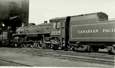 6J191 RP 1958 CANADIAN PACIFIC RAILROAD LOCO 1224  ST LUC MONTREAL PQ