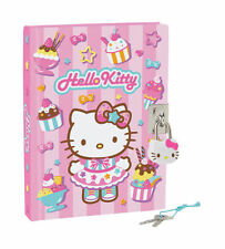 Sanrio Hello Kitty Ice Cream Diary with Padlock and Key - Pink Color - 288 p