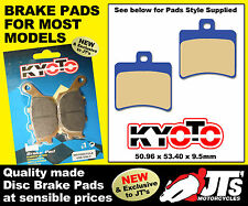 REAR SET DISC BRAKE PADS TO SUIT APRILIA Sport Cube 300 Blackline (11) PATTERN