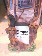 DACHSHUND ~ MAGNET PICTURE FRAME WITH EASEL BACK ~  #78