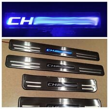Blue LED light Stainless Door Sill Scuff Plate Guard For Dodge Charger 2008-2014