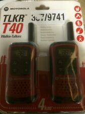 4km Motorola TLKR T40 2 Vías PMR Walkie Talkie Compacto Set 446 Radio Kit-Twin