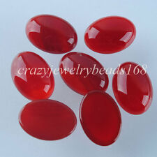 Free shipping Red Agate Gemstone Oval 13x18MM Cabochon CAB 5PCS N735