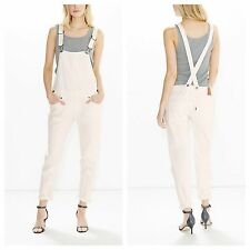 NEW Levis White Denim Bib Overall SZ Large NWT Color: Winter Bloom #195380002