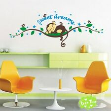 Nursery monkey Kindergarten Sweet dreams Wall Sticker Wall Decal for Kids room