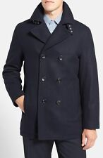 Mens Michael Kors Wool Double Breasted Peacoat Navy RRP £199 Large box5550 B
