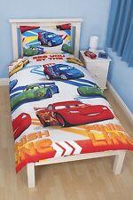 NEW DISNEY CARS 'SPEED' SINGLE DUVET QUILT COVER SET BOYS KIDS BEDROOM GIFT