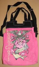 ED HARDY HAND OR CROSSOVER PURSE TOTE MESSENGER PINK