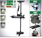 BLACK 12V 55 Lbs Bow Mount Electric Trolling Motor Free Accessories & Propeller