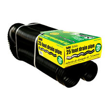 FLEX-Drain 4-in x 25-Ft Corrugated Solid Pipe Flexible Durable Plastic Downspout