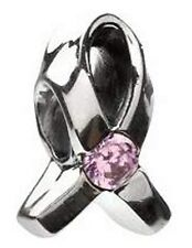 AUTHENTIC CHAMILIA SILVER BREAST CANCER GIVE BACK PROGRAM LIGHT PINK CZ JA-1A