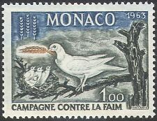 Monaco 1963 Hunger/Bird/FAO/Pigeon/Dove/Food 1v n32256