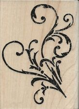 """Vintage Flourish"" Rubber Stamp by Stampabilties"