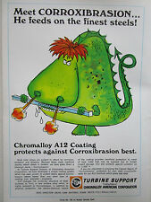 5/1969 PUB TURBINE SUPPORT CHROMALLOY AMERICAN CORP A12 COATING DRAGON AD