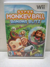 NINTENDO WII SUPER MONKEY BALL BANANA BLITZ GAME COMPLETE & TESTED