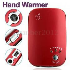 Red USB Charger Pocket Portable Electric Hand Warmer Heater Rechargeable LED