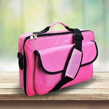 "High Quality Laptop Notebook Carrying Briefcase Bag 15.6"" 17.3"" 18"" 18.4"" Pink"