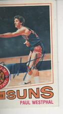PAUL WESTPHAL SIGNED 1977-78 TOPPS #10 - PHOENIX SUNS