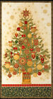 Beautifully Adorned Christmas Tree Panel, Winter's Grandeur 8, Kaufman, Metallic