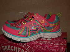 Girls New Skechers Athletic Shoes Size 1 Wunderspark  Neon/Pink/Multi
