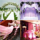 10M Wedding Curtain Wedding Accessories Decoration Decor Gauze 4Colors