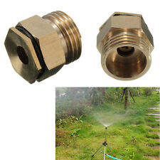 "1/2"" Brass 360° Adjustable Atomizing Lawn Mist Sprinkler Patio Spray Nozzle"