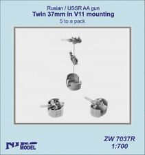 Niko Model 1/700 Russian / USSR Anti Aircraft Gun Twin 37mm In V11 Mounting
