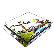 Skin Decal Cover Sticker for Sony PS4 Slim - Calvin and Hobbes Comic Tiger