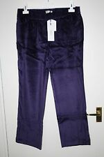 BNWT SIZE 30 EAST PURPLE VELVET FEEL STRAIGHT LEG TROUSERS WITH STRETCH  1708