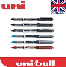 uni-ball Eye UB-150 Micro Rollerball Pen ( Black Ink Pack of 6)black/blue/red