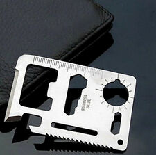 MGCA Multi Tool 11in1 Hunting Survival Camping Pocket Military Credit Card Knife
