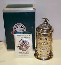 2001 ANHEUSER-BUSCH MEMBERS ONLY 125TH ANNIVERSARY STEIN  CB-20 FREE SHIPPING
