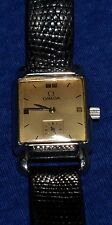 Omega Stainless Steel Gold Face 17 J 33MM Vintage Men's Watch Runs Great