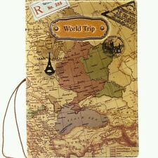 Travel World Passport Holder Ticket Document Protector Cover Case Wallet