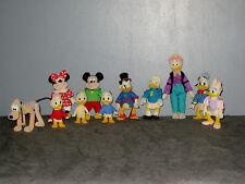 Anciennes Figurines feutrine Picsou/Trouvetou/Grand-mére/Mickey/Donald  8 à15cm